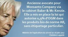 Lagarde et Monsanto